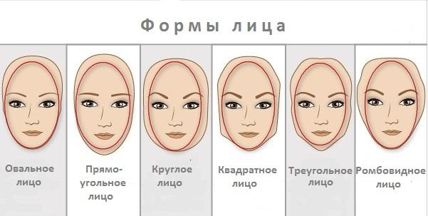 На данной картинке показаны различные формы лица