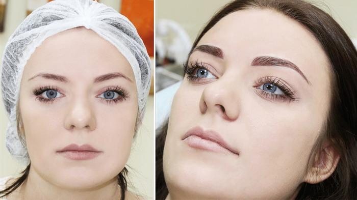 Качественный перманентный макияж бровей смотрится очень естественно
